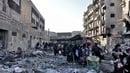 Civilians flee the besieged city of Aleppo