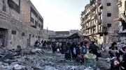Residents flee from areas of eastern Aleppo