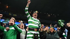 Celtic fans saw their side claim a 1-1 draw in Manchester