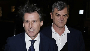 Seb Coe with his then chief-of-staff Nick Davies