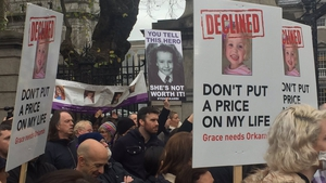 The announcement comes after hundreds of people took part in a protest at Leinster House demanding access to the drug