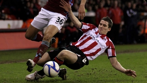 Dave McAllister in FA Cup action for Sheffield United in 2011