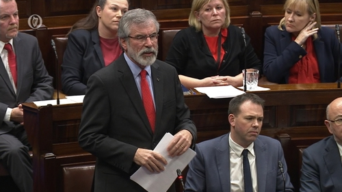 Gerry Adamssaid he had sought to help the Stack family