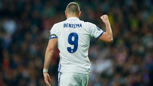 Karim Benzema scored twice against Dortmund