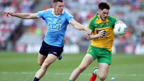 Ryan McHugh in action for Donegal against Dublin in this year's All-Ireland quarter-final