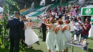 Yes its a wedding on a football pitch. Just Don't Tell the Bride - ok!