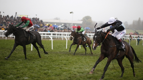 Aidan Coleman partnered Taquin De Seuil (l) to victory at Cheltenham last month