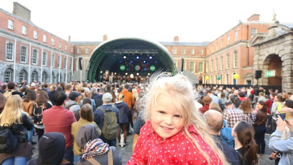 Revelers gather for the RTÉ 2016 Culture Night celebrations in Dublin Castle - the new Culture Ireland plan will introduce a Culture Day in 2017