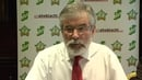 Gerry Adams was speaking at a press conference when Mr Stack made his comments