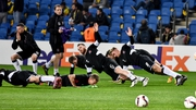 Dundalk are put through their paces in the warm-up