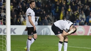 Brian Gartland (R) and Andy Boyle react after Dundalk go behind