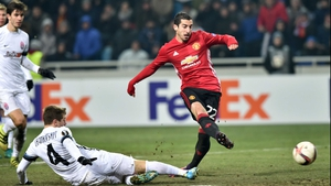 Henrikh Mkhitaryan fires the Red Devils into the lead