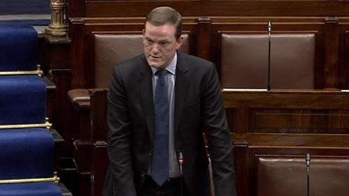 Fine Gael TD Alan Farrell speaking in the Dáil last week