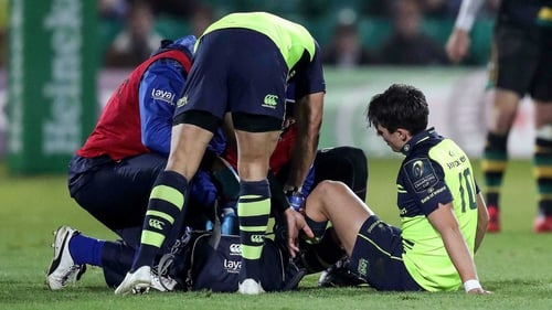Joey Carbery injured his ankle in the Champions Cup win over Northampton