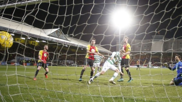 Stuart Armstrong's double helped Celtic to a straight-forward win