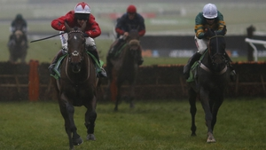 The New One (l) winning the  International Hurdle at Cheltenham on 10 December