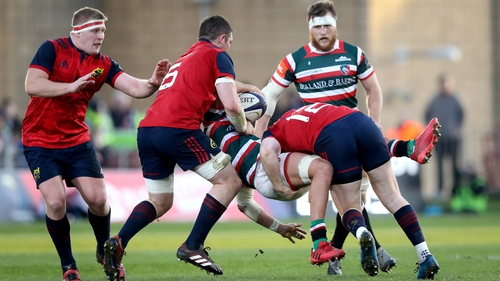 Leicester couldn't find a way through the Munster defence in the 38-0 defeat at Thomond Park