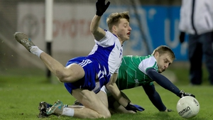 Leinster's Donie Kingston (L) challenges Niall McInerney of Connacht