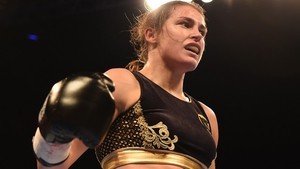 Katie Taylor takes on Milena Koleva at the Manchester Arena