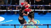 Katie Taylor in action at the Manchester Arena