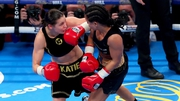 Katie taylor (L) in action at the Manchester Arena