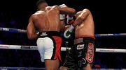 Joshua (l) won by technical knockout