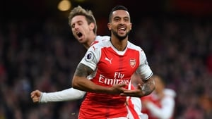 Walcott was again on the scoresheet against Stoke City