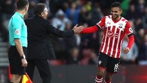 Sofiane Boufal of Southampton celebrates his goal