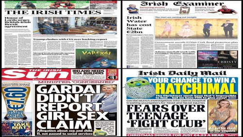 Brexit, Irish Water and gender quotas in sport are some of the stories on your front pages this morning.