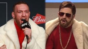 Conor McGregor and his Saturday Night Live counterpart