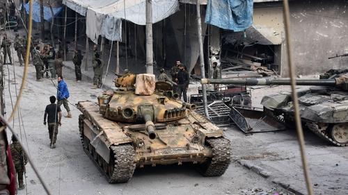 Fórsaí na Siria in Aleppo