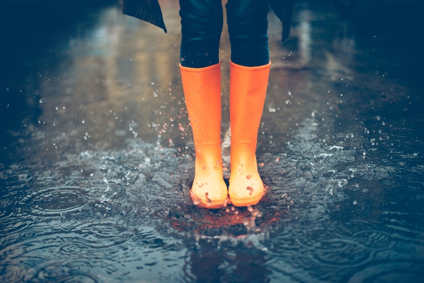 Rain boots and shoes are essential