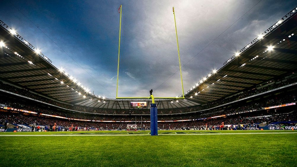 Twickenham Stadium hosted the New York Giants and Los Angeles Rams in October
