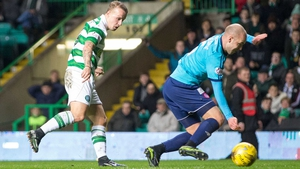 Celtic's Leigh Griffiths scores what turned out to be the winner