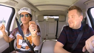 Bruno Mars is the latest celeb to join James Corden for his drive to work