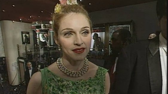 Madonna at Evita launch (1996)