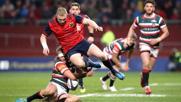 Keith Earls is action during the 38-0 win over Leicester