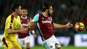 Andy Carroll was a handful for West Ham