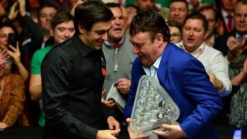 John Higgins overcomes Ronnie O'Sullivan at Scottish Open