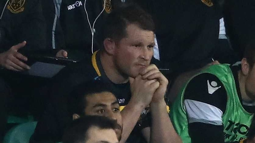 Dylan Hartley watches from the stands as Leinster defeat Northampton