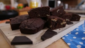 Christmas Walnut Brownies by Eva Lawes
