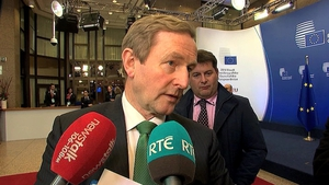 Enda Kenny was speaking following a meeting of EU heads of government