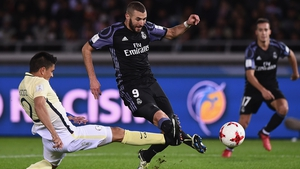 Benzema in action during the Club World Cup