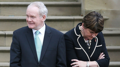 Deputy First Minister Martin McGuinness says First Minister Arlene Foster should step aside