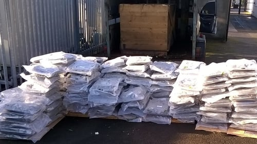 Gardaí believe the drugs were being moved by a north Dublin criminal gang for the Dublin market