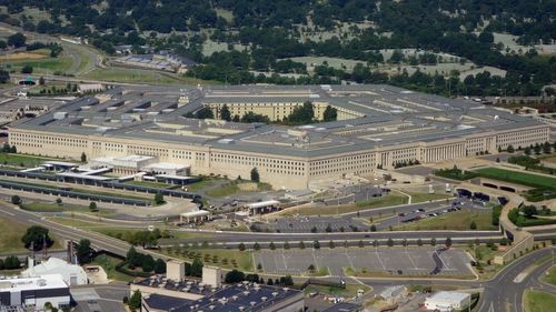 The US Defense Department at The Pentagon said it had carried out airstrikes at a Syria-Iraq border control point