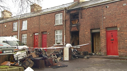 Emergency services were alerted to the scene at Kelleher's Buildings in Dillon's Crossat around 4.30am