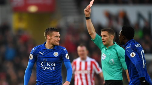 Jamie Vardy is sidelined for three games