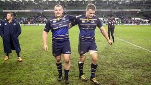 Jack McGrath and Josh Van der Flier celebrate afterwards
