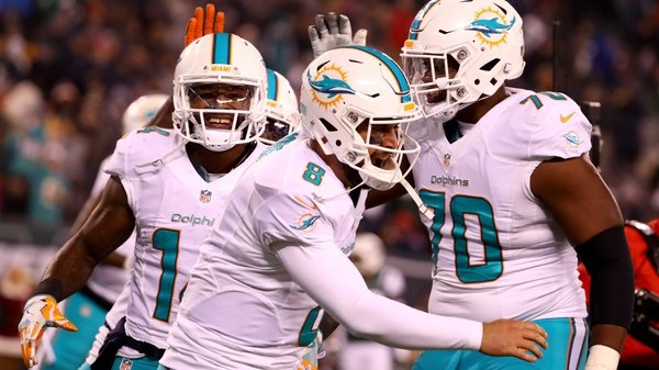 Matt Moore eased the Dolphins into the final wild-card spot in the AFC